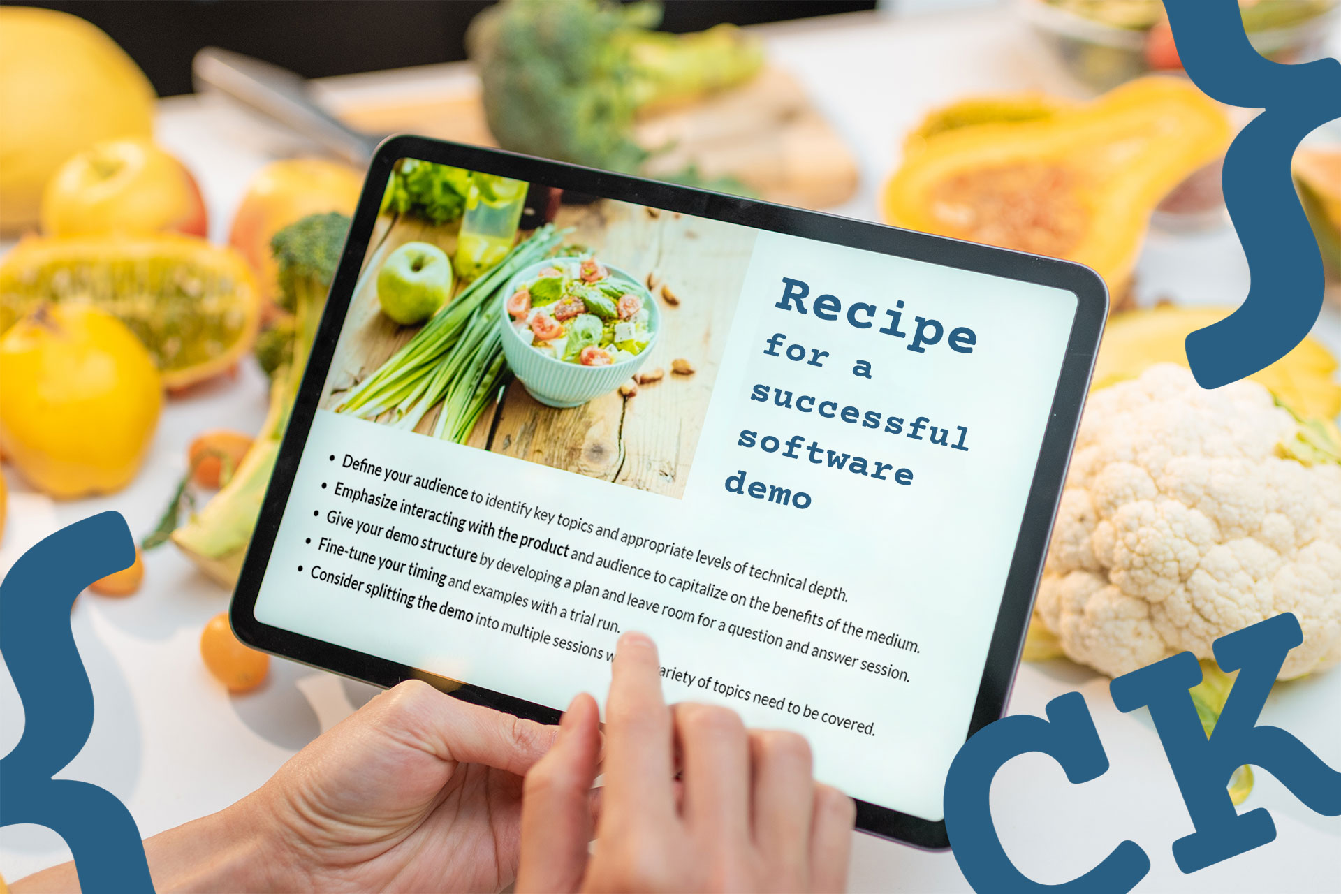 Recipe for a successful software demo